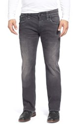 Rock Revival 'Mike' Straight Leg Jeans Charcoal Gray