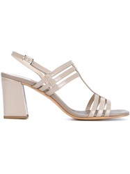 Maryam Nassir Zadeh Rosa Patent Leather Sandals Nude And Neutrals