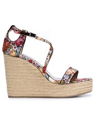 Tabitha Simmons 'Jenny' Wedge Sandals Multicolour