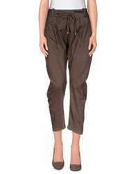 Annarita N. Trousers 3 4 Length Trousers Women Khaki