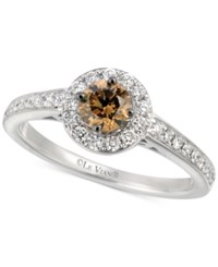 Le Vian Bridal Diamond Halo Engagement Ring 3 4 Ct. T.W. In 14K White Gold