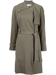A.L.C. Belted Military Coat Green