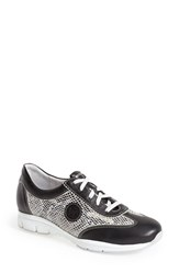 Women's Mephisto 'Yael' Soft Air Sneaker Soft Black Leather