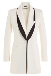 Alexander Mcqueen Wool Blazer With Silk White