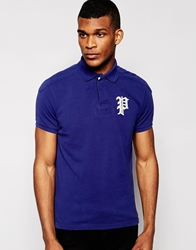 Polo Ralph Lauren Polo Shirt With Gothic P Regular Fit Royal