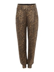 Biba Body Luxe Casualwear Leopard Zip Trousers Gold