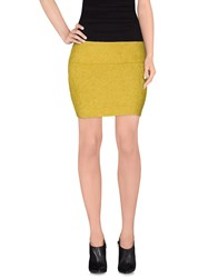 Aspesi Skirts Mini Skirts Women Yellow