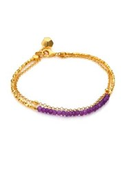 Astley Clarke Biography Amethyst Beaded Friendship Bracelet Gold Amethyst