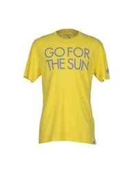 Sundek T Shirts Yellow