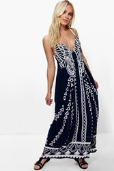Boohoo Ruby Mono Coin Back Maxi Dress Multi