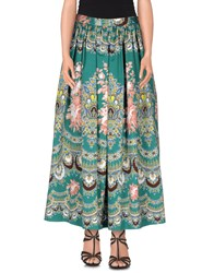 Msgm Skirts Long Skirts Women Green