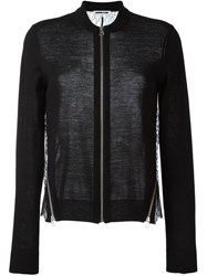 Mcq By Alexander Mcqueen Lace Panel Cardigan Black