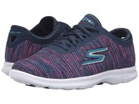 Skechers Go Step Prismatic Navy Pink Women's Lace Up Casual Shoes