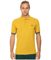 Fred Perry Champion Tipped Shirt Mustard Men's Short Sleeve Knit Yellow