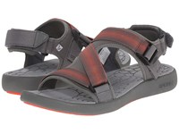 Sperry Big Eddy River Sandal Grey Men's Sandals Gray