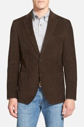 Nordstrom Classic Fit Stretch Corduroy Blazer Brown
