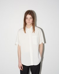 Alexander Wang Cotton Poplin Trapeze Back Shirt White