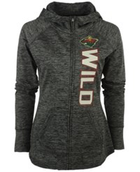 G3 Sports Women's Minnesota Wild Recovery Hooded Sweatshirt Heather Gray
