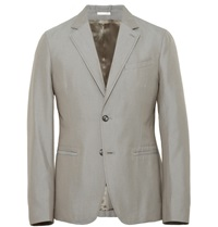 Alexander Mcqueen Slim Fit Cotton Blazer Gray