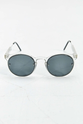 Spitfire Post Punk Round Sunglasses Clear