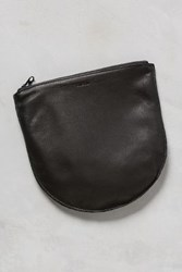Anthropologie Large Leather U Pouch Black