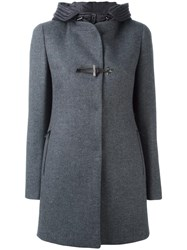 Fay Double Breasted Coat Grey