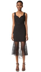 Prabal Gurung Sweetheart Combo Sheath Dress Black