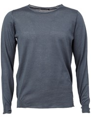 Roberto Collina Rolled Hem Jumper Grey