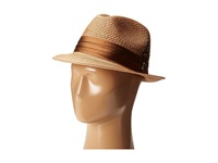 Stacy Adams Polybraid Pinch Front Fedora With Silk Band Cognac Fedora Hats Tan