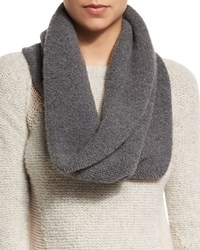 Elie Tahari Arly Cashmere Blend Infinity Scarf Charcoal Grey Men's