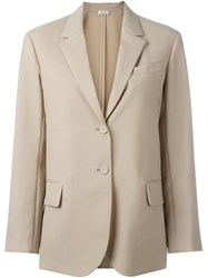 Nina Ricci Button Blazer Nude And Neutrals