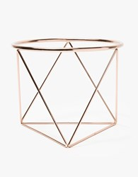 Eric Trine Octahedron Ring Low Planter Copper