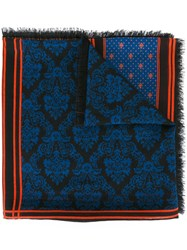 Givenchy Patchwork Printed Scarf Blue