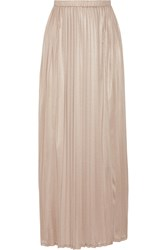 Max Mara Jadi Pleated Crepe De Chine Maxi Skirt Beige