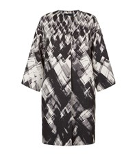 Les Copains Diamond Print Coat Female Black