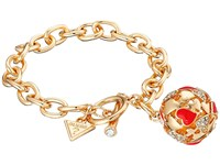 Guess Heart Ball Toggle Bracelet Gold Crystal Red Bracelet