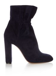 Chloe Kent Suede Ankle Boots Navy