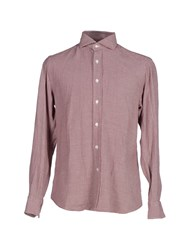 Salvatore Piccolo Shirts Shirts Men Brick Red