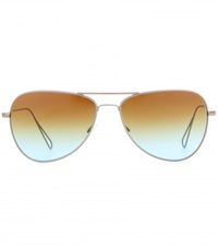 Isabel Marant Matt Aviator Sunglasses For Oliver Peoples Brown