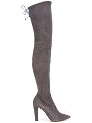 Jean Michel Cazabat 'Elvira' Thigh High Boots Grey