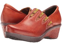 Spring Step Scribble Camel Women's Clog Shoes Tan