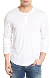 Men's James Perse 'Clear Jersey' Long Sleeve Henley White