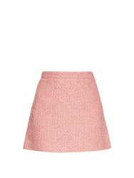 Gucci Tweed A Line Mini Skirt Pink