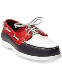 Polo Ralph Lauren Men's Team Usa Ceremony Boat Shoes Navy White Red