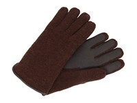 Ugg Calvert Side Vent Glove With Leather Palm Stout Heather Dress Gloves Brown