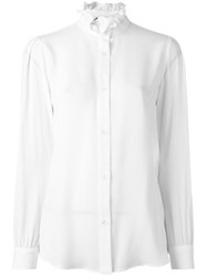 Love Moschino Ruffled Collar Shirt White
