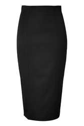 Olympia Le Tan Wool Blend Pencil Skirt With Velvet Heart