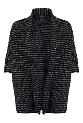James Lakeland Stripy Cardigan Black