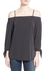 Women's Ella Moss 'Isabella' Ruffle Off The Shoulder Top Black