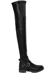 Fendi 30Mm Stretch Nappa Over The Knee Boots